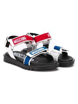 Moschino Kids сандалии на липучках с логотипом 63706V1T