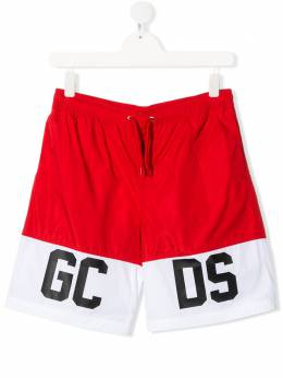 GCDS Kids плавки-шорты с контрастными вставками 022635