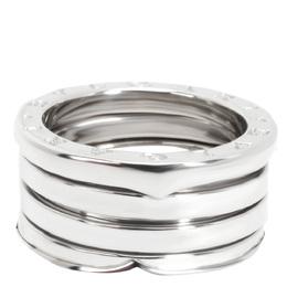 Bvlgari 18K White Gold B.zero1 Four Band Ring Size 50 279197