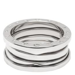 Bvlgari 18K White Gold Three Band B.zero1 Ring Size 52 279172