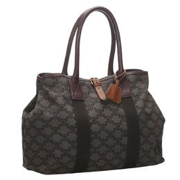 Celine Brown Macadam Canvas Tote Bag 278300