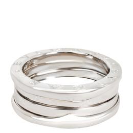 Bvlgari 18K White Gold Three Band B.Zero 1 Ring Size 52 279208