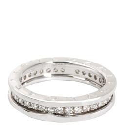 Bvlgari 18K White Gold Diamond B.Zero 1 Band Ring Size 54 279204