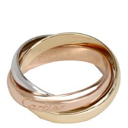 Cartier 18K Three Tone Gold Trinity Ring Size 50 279510