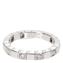 Cartier 18K White Gold Diamond Lanieres Ring Size 53 279475