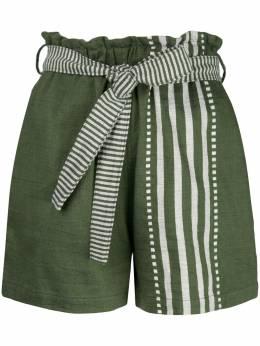 Lemlem шорты Eshe с завышенной талией SW2006DARKOLIVEGREEN