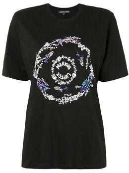 Markus Lupfer футболка с логотипом и пайетками TEE394