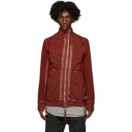 Boris Bidjan Saberi Red Zip-Up Sweater ZIPPER1-FTO0002
