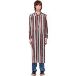 Loewe Multicolor Stripe Long Tunic Shirt H2109730SU