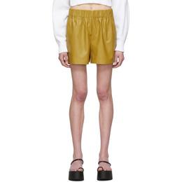 Tibi Khaki Tissue Pull-On Shorts S120TF4058