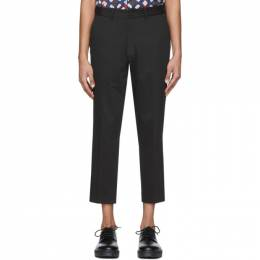 Saturdays Nyc Black Murphy Cropped Trousers M22018MP01