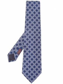 Hermes галстук с геометричным узором 2000-х годов pre-owned MESH180