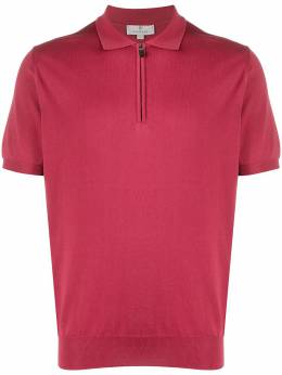 Canali рубашка-поло с воротником на молнии C0454MK00145