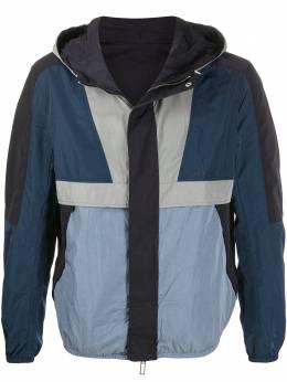 Emporio Armani двусторонняя куртка с капюшоном и геометричными вставками 3H1BN31NKBZ
