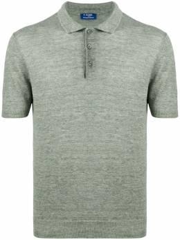 Barba однотонная рубашка-поло 2480457587
