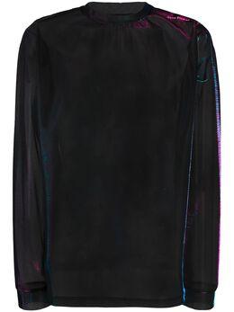 Acne Studios сетчатая футболка с длинными рукавами и блестками BL0170