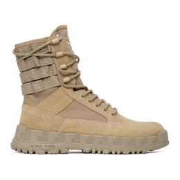 Versace Beige High Sneaker Boots DSU7885 DCRTEG