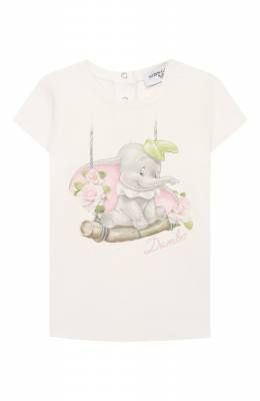 Хлопковая футболка Monnalisa 395608SC