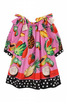 Хлопковая блузка Dolce&Gabbana L54S91/G7WRH/8-14