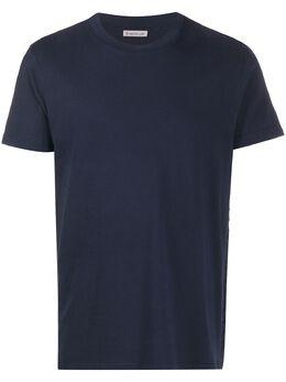 Moncler футболка с вышитым логотипом F10918C720108390T