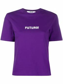MSGM укороченная футболка с принтом Futuro 2841MDM213207298