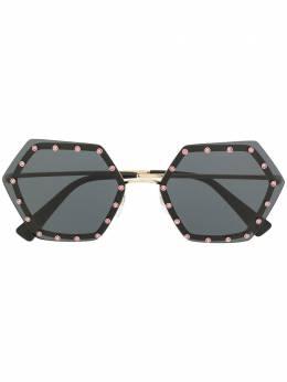 Valentino Eyewear декорированные солнцезащитные очки VA2035300387