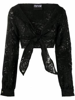 Versace Jeans Couture укороченная блузка с цветочным узором B0HVB61000358