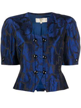 Valentino Pre-Owned блузка 1990-х годов с объемными рукавами и цветочным принтом VLTN250