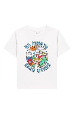 Хлопковая футболка Stella McCartney 588361/S0JF1