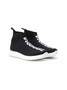 Dsquared2 Kids кроссовки-носки с логотипом 63516