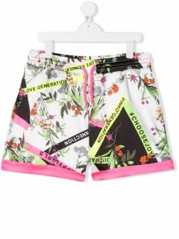 Pinko Kids шорты с цветочным принтом 024426