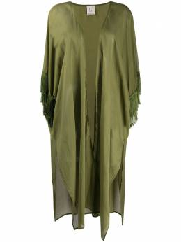 L'Autre Chose пальто без застежки с бахромой OK410001U530157116
