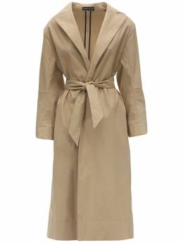 Belted Cotton Blend Trench Coat Kwaidan Editions 71IXSR008-U0FORA2