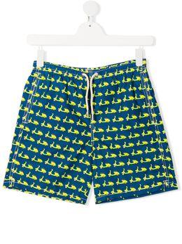 Mc2 Saint Barth Kids плавки-шорты с принтом Mini Vespa JEA0004