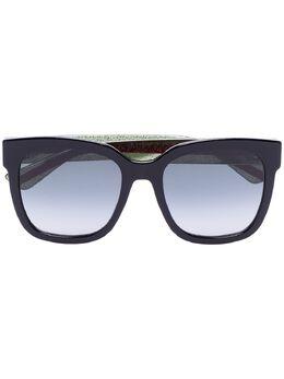 Gucci Eyewear солнцезащитные очки в квадратной оправе GG0034S