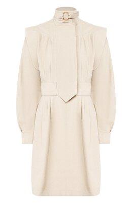 Платье из смеси хлопка и льна Stella McCartney 598783/SIA03