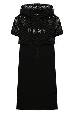 Платье с укороченным худи DKNY D32736/09B SS20