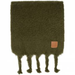 Loewe Green Mohair Scarf 910.10.070