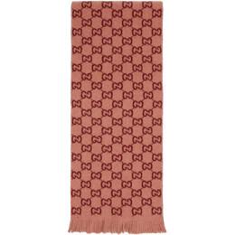 Gucci Pink Lady Longfog Scarf 607140 3G206