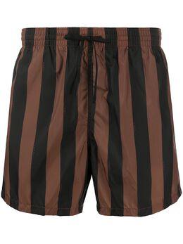Fendi плавки-шорты в полоску FXB077ABT2