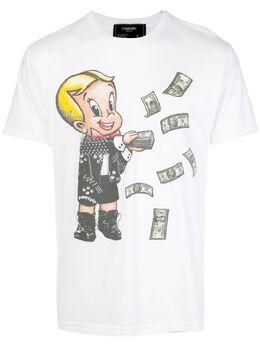 Domrebel декорированная футболка с принтом BALLERTW