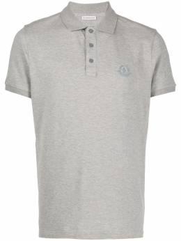 Moncler рубашка поло с короткими рукавами и нашивкой-логотипом 8A7100083921