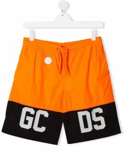 GCDS Kids плавки-шорты с логотипом 022635