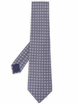 Hermes галстук 2000-х годов в диагональную полоску HERS180G