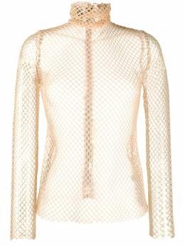 Atu Body Couture приталенный топ в сетку ATS2054
