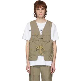 Engineered Garments Khaki Nyco Game Vest 20S1C007
