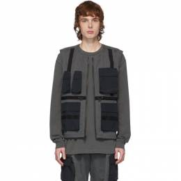 John Elliott Black Miramar Tactical Vest H196L4510S