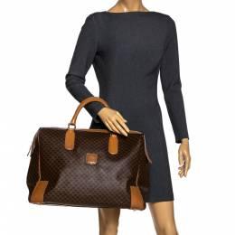 Celine Brown Macadam Coated Canvas and Leather Weekender Bag 279770