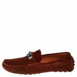 Hermes Mud Brown Suede Irving Loafers Size 43.5 251448