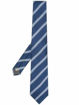 Canali галстук в диагональную полоску HJ02673